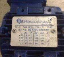 컨베이어 모터0.37Kw 과열소손 발생 분해 사진