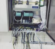 S7 CPU 400 I/O 연결 작업 중 사진 입니다.