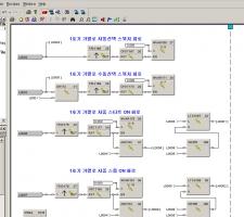 하니웰 PLC 블록방식 프로그램