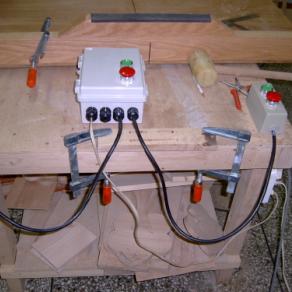 집진기용 모터제어박스 만들기.